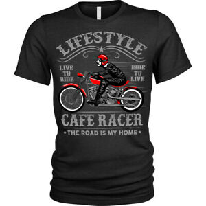 Lifestyle Biker T-Shirt Cafe Racer motorcycle Unisex Mens