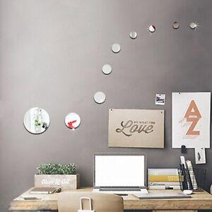 3D Circles Mirror Wall Sticker DIY Decal Mural Home Decor P3