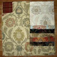 "Thibaut BUCCINI Gold 25""x26"" Floral Multipurpose FABRIC SAMPLE Linen/Cotton LOT"