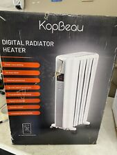 Space Heater, 1500W Oil Filled Radiator Heaters Indoor Portable Electric