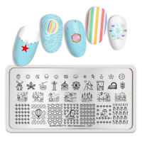BORN PRETTY Rectangle Stamping Plate Strawberry Tree Nail Art Design Tools L001