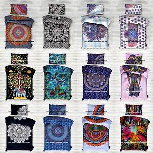 Mandala Indien Drap de Lit Literie Coton Double Taille Couvre-Lit Handmade Set