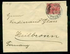 GERMANY OFFICES IN CHINA 1902 #26 10PF TIED ON WRAPPER TO GERMANY