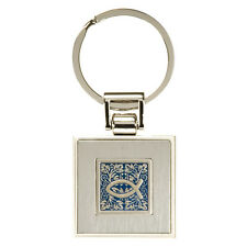 Fish Engraved Silver Metal Key Ring by Christian Art Gifts