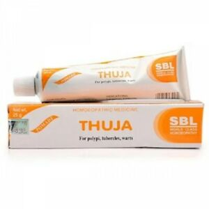 25 gm SBL Homeopathic Thuja Cream For Wart Mole & Tag Removal Natural Care