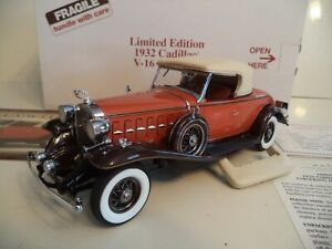 DANBURY MINT  CADILLAC V16 ROADSTER  LIMITED EDITION 1932     IN  BOX