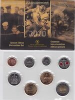 2010 Canada Special Edition Uncirculated Coin Set - Poppy - Roughriders - Navy
