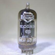 Mullard ECC83/12AX7 Long Plate Square Getter England 1955 mC1 B5K Strong
