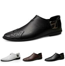 Men's Pumps Loafers Shoes Slip on Driving Moccasin Flats Leisure Leather Casual