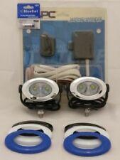 Luces e indicadores para motos color cromo, LED