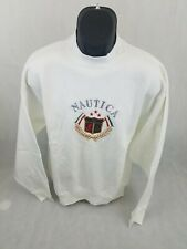 Nautica Mens Long Sleeve Pullover Sweater White Xl