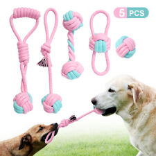Chew Rope Toys for Dog Aggressive Braided Cotton Rope Interactive Dog Tug Chewer
