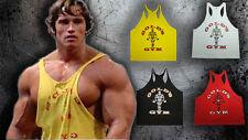 gym tank men singlet muscle stringer top shirt bodybuilding tops arnold arnie
