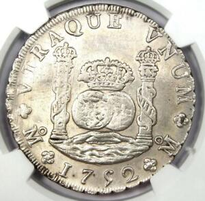 1752-MO Mexico Pillar Dollar 8 Reales Coin 8R - NGC Uncirculated Detail (UNC MS)