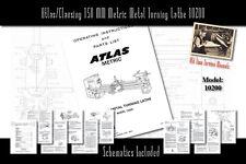 Atlas/Clausing 150 MM Metric Metal Turning Lathe 10200 Service Manual Parts List