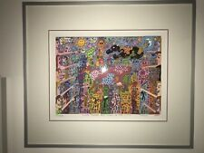 Farblithographie James Rizzi :lLook there are cows in the city