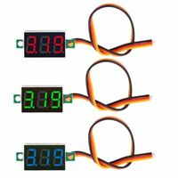 "0.36"" DC 0-100V 3 bits 3 wires Digital Voltmeter LED Display Panel Voltage Meter"