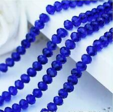 Faceted Rondelle Jewelry Bicone Craft Glass Crystal Beads 4mm 71PC Dark blue