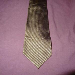 "Squares Striped Green Tie Necktie 54"" Banana Republic 100% Silk"