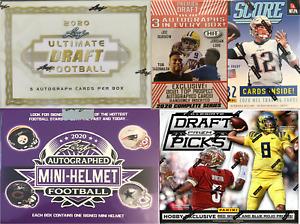 Detroit Lions (5) Box Football Mixer Case Break Auto Helmet & Ultimate Draft