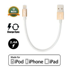 Apple Certified CreatePros Short Lightning Cable for iPhone SE 7 6S 6 5S 5C 5