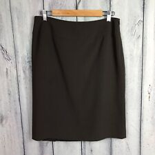 Talbots 10 P Petite Skirt Straight Brown With Pleat In Back