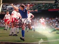 Paolo Rossi mano firmado 12 X 8 Foto Italia meta Juventus Hat Trick Copa del mundo certificado de autenticidad