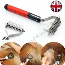 Professional Pet Grooming Undercoat Rake Comb Dematting Tool Dog Cat Brush in UK