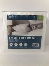 NEW Lucid Rayon From Bamboo Full Sheet Set 4 piece Deep Pocket Multi Avail