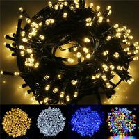 100-500 LED Solar Fairy String Garden Decoration Lights Outdoor Xmas Party Lamp