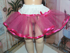 """Pink Net Petticoat  22-23"""" Doll clothes fits Ideal Saucy Walker or Pedigree"""