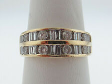 0.90TCW Genuine Diamonds Band Solid 14K Yellow Gold Ring FREE Sizing