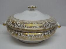 Wedgwood FLORENTINE GOLD W4219 Covered Vegetable Bowl