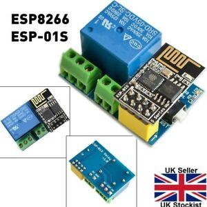 ESP8266 ESP-01S 5V WiFi Relay Module Smart Home Remote Control Unlock UK