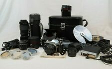 Lot of Vintage Pentax and Vivitar Camera, Lens, Filters, Flashes (TAP)