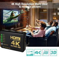 US 5 IN 1 HDMI Splitter Switch Adapter Switcher Ultra HD HDCP 3D HDR Remote 4K