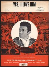 Yes I Love Him 1967 Albie Pearson L A Angels Baseball player Sheet Music