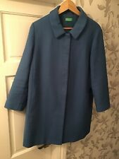 """United Colours Of Benetton Womens Blue Coat Size 14-16 Bust 40"""""""