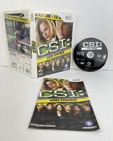 CSI Crime Scene Investigation Hard Evidence Nintendo Wii TESTED CIB COMPLETE