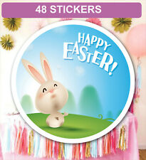 48 Easter Party Bag Stickers Sweet cone Labels Personalised