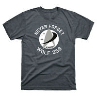 Never Forget 43989 Wolf 359 Alien Retro Men's Tee Cotton Short Sleeve T-Shirt