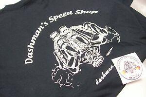 Dashman's Hot Rod & Speed Shop Black T-Shirt Gasser 392 Injected M L XL 2XL 3XL