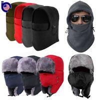 2017 Men Winter Fleece Balaclava Hat Trooper Snow Ski Neck Face Mask Hood Cap