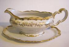 "Weimar Porcelain ""Katharina"" Sauce Boat White Gold Encrusted Germany"