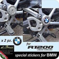 2 Adesivi Stickers 3D resinati BMW GS R 1200 LC per giunto centrale