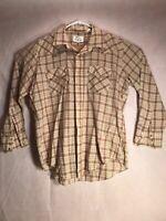 Silver Spur Western Wear Men's Long Sleeve Pearl Snap Shirt 17.5/34 Vintage