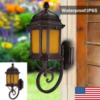 E27 Outdoor Vintage Wall Light Lamp Sconce Exterior Porch Lighting Fixture IP65