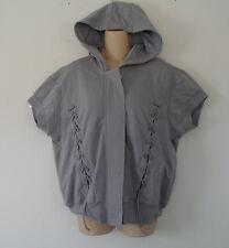RARE~Stella McCartney adidas ORGANIC STUDIO SS HOODY SWEAT SHIRT Jacket Top~Sz M