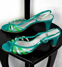 Impo Turquoise Green Slingback Sandals Heels Size 8.5
