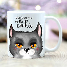 T208 Wandtattoo-Loft Cup Coffee Mug Cat Cookie Cat Morning Person